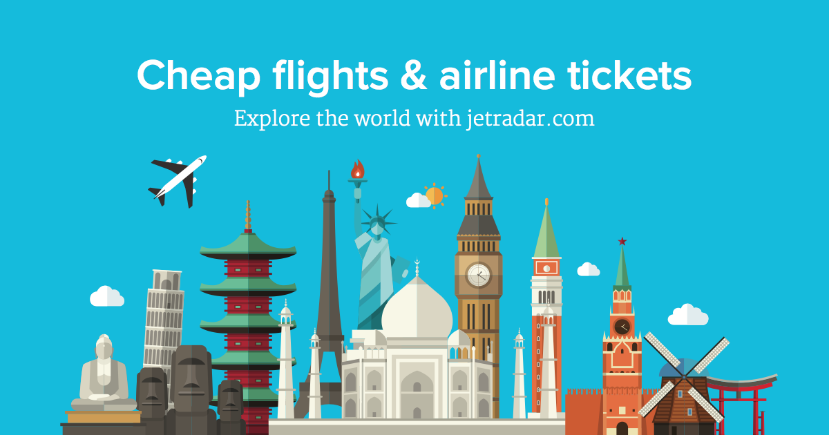 Cheap flights and airline tickets jetradar for Site for cheapest flights